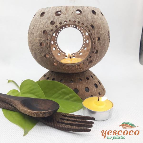 Thìa gỗ mun xinh ăn kem ăn chè - phụ kiện chụp hình