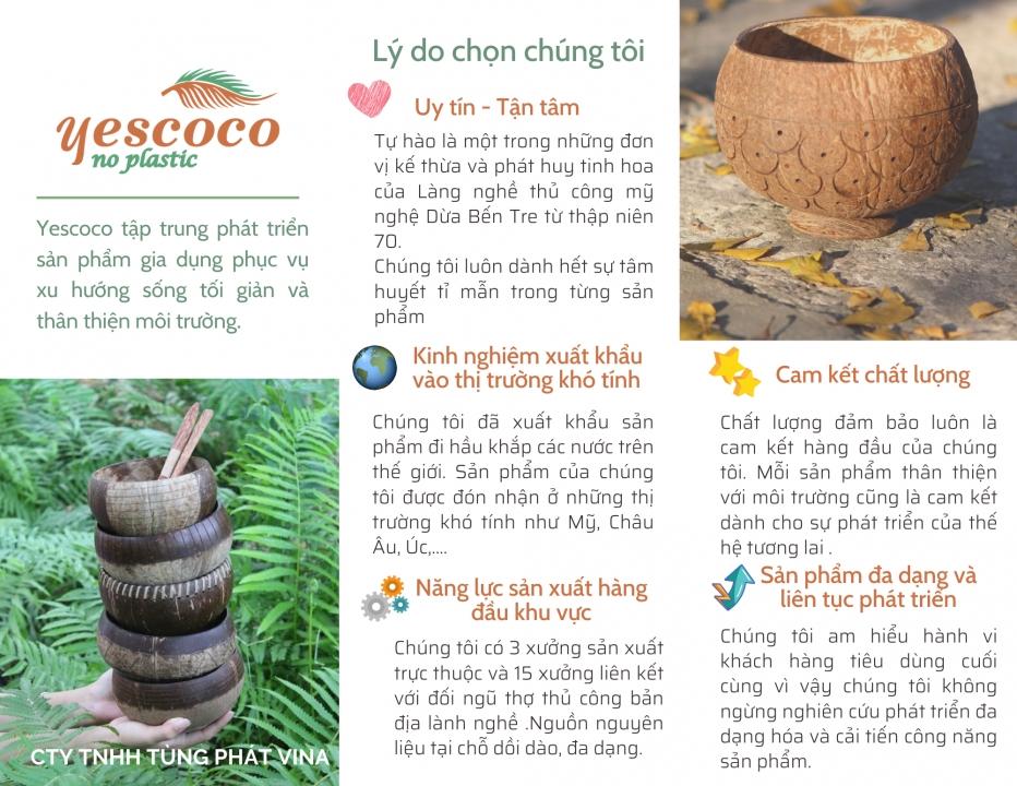 Lý do chọn chúng tôi - Yescoco Xưởng gáo dừa