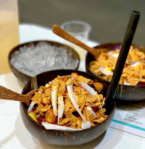 Bát Gáo Dừa Sinh tố, papaya, kem  - Bóng
