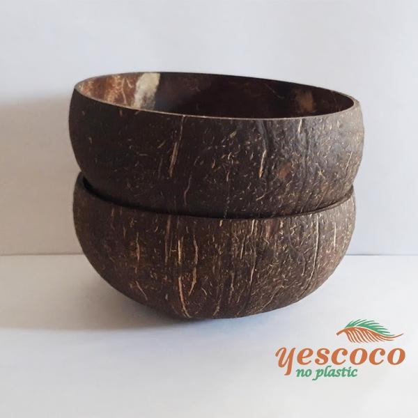 Bát gáo dừa thô đen