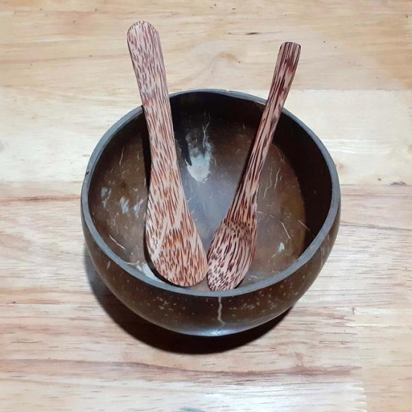 Bộ Bát trộn mặt nạ Gáo dừa tự nhiên YESCOCO XƯỞNG SX