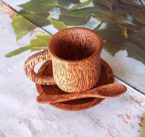 Ly Cafe Gỗ Dừa