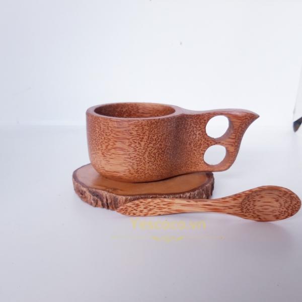 Bộ cốc cafe đế gỗ