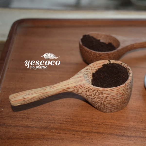Thìa múc cà phê gỗ dừa