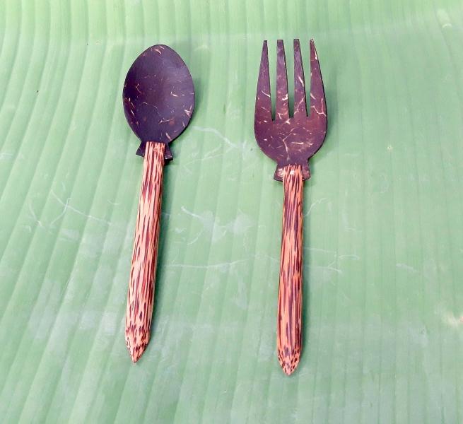 Thìa Nĩa Gáo Dừa - Phụ kiện bàn ăn phong cách YESCOCO XƯỞNG SX